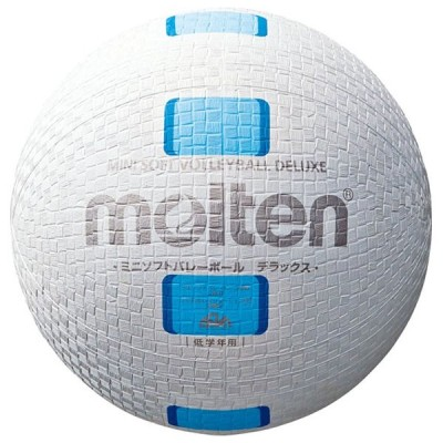 モルテン Molten ミニソフトバレーボールデラックス 白シアン バレー ボール S2Y1500WC 取寄