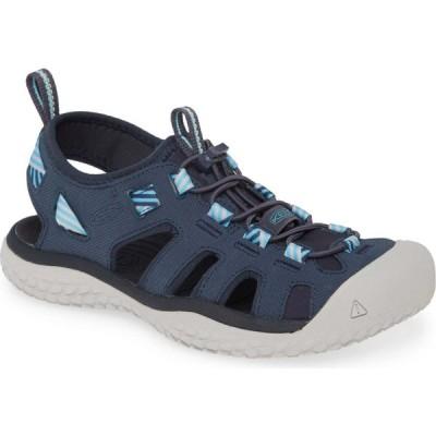 キーン KEEN レディース サンダル・ミュール シューズ・靴 Solar Sandal Navy/Blue Mist Fabric