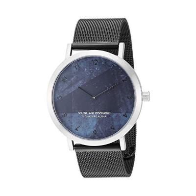 South Lane Swiss-Quartz Watch with Stainless Steel Strap, Black, 19.7 (Model: SS20-dr1-4628) 並行輸入品