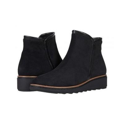 Clarks クラークス レディース 女性用 シューズ 靴 ブーツ アンクル ショートブーツ Sharon Heights - Black Suede