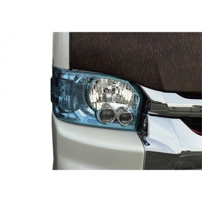 ハイエース 200系 4型〜6型 標準ボディ カラーインナーLOOKヘッドライトカバー スカイブルー