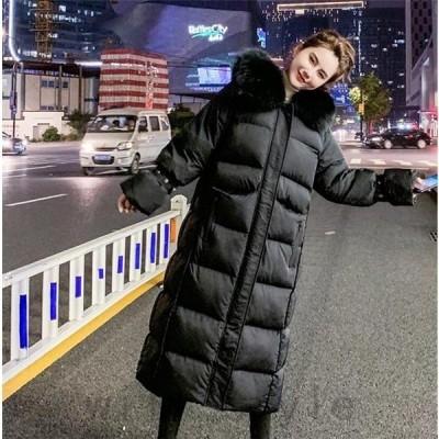 中綿ダウンコートロング韓国オルチャン原宿ストリートファーパーカー襟大人きれいめ40代30代冬アウターレディース