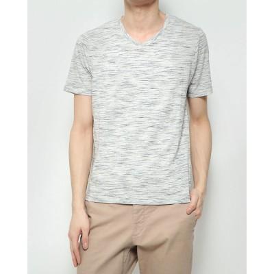 スタイルブロック STYLEBLOCK スペースダイVネックTシャツ (ライトグレー)