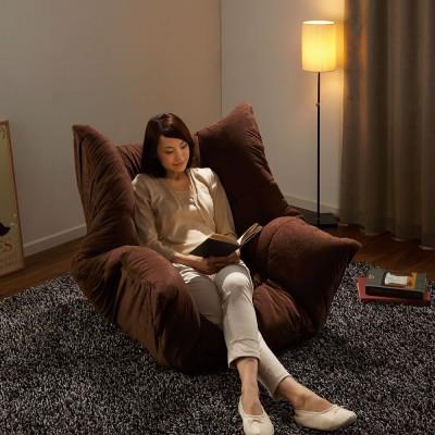 マルチリクライニング コンパクトソファ(座椅子) ハイバックタイプ ダークブラウン