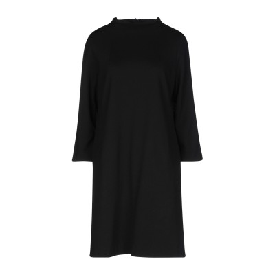 セミクチュール SEMICOUTURE ミニワンピース&ドレス ブラック 44 レーヨン 68% / ナイロン 27% / ポリウレタン 5% ミニ