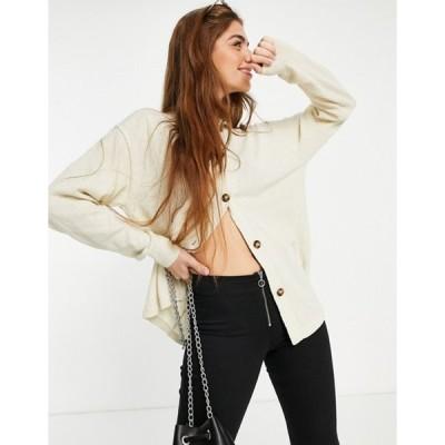 モンキ レディース カーディガン アウター Monki Amy recycled knitted lounge collared cardigan in camel set