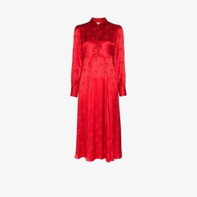 ティモ byTiMo レディース ワンピース シャツワンピース ワンピース・ドレス Floral shirt dress red