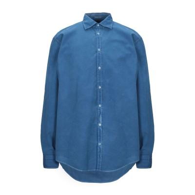 マッシモ・アルバ MASSIMO ALBA シャツ ブルー XL コットン 100% シャツ