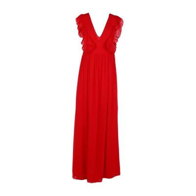 ピンク メモリーズ PINK MEMORIES ロングワンピース&ドレス レッド 40 レーヨン 100% ロングワンピース&ドレス