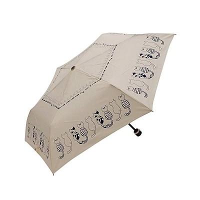 マーブドロップ 折りたたみ傘 オフホワイト ラメ&ミニ(丸手)50cm neco 6本骨 FS-23 U