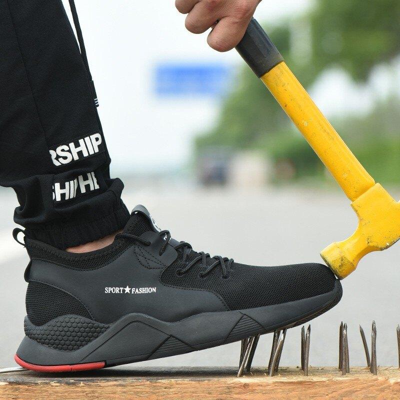 防砸防刺透氣 安全鞋/衝鋒鞋 En1等級 安全鞋 工作鞋 勞保鞋 防刺穿鋼板 防臭透氣 鋼頭鞋 運動鞋
