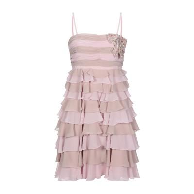 ANDREA MIRAMONTI ミニワンピース&ドレス ライトピンク 40 ポリエステル 100% ミニワンピース&ドレス