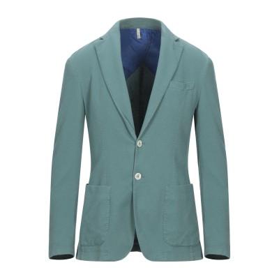 DOMENICO TAGLIENTE テーラードジャケット エメラルドグリーン 50 コットン 97% / ポリウレタン 3% テーラードジャケット