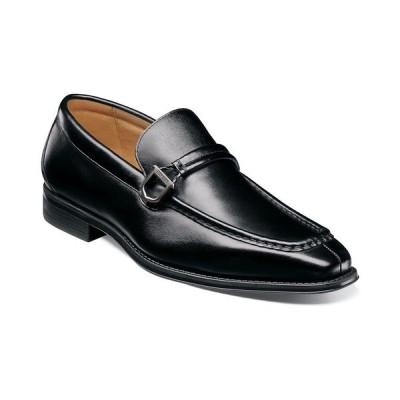 ステイシーアダムス スリッポン・ローファー シューズ メンズ Men's Pernell Moc Toe Ornament Slip On Loafers Black