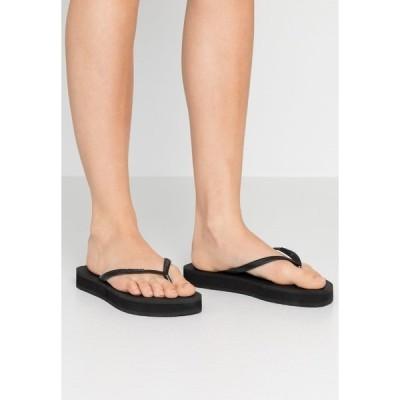 ハワイアナス サンダル レディース シューズ SLIM FLATFORM - Pool shoes - black