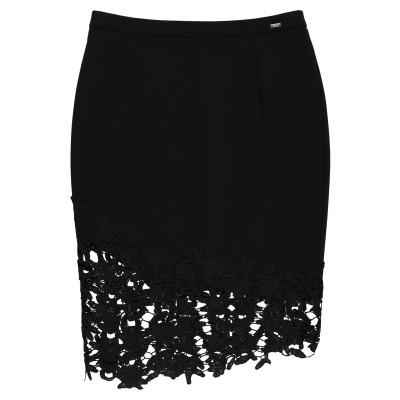 MARCIANO ひざ丈スカート ブラック 38 ポリエステル 90% / ポリウレタン 10% ひざ丈スカート