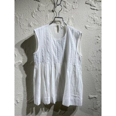 dosa /スリーブカット刺繍カットソー/2/ホワイト