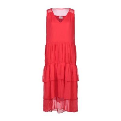 VILA 7分丈ワンピース・ドレス レッド 34 ナイロン 100% 7分丈ワンピース・ドレス
