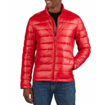 ゲス レディース ジャケット・ブルゾン アウター Lightweight Polyfill Packable Jacket Red