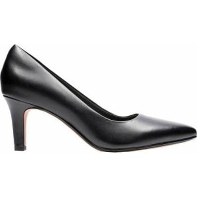 クラークス レディース パンプス シューズ Illeana Tulip Pointed Toe Pump Black Leather