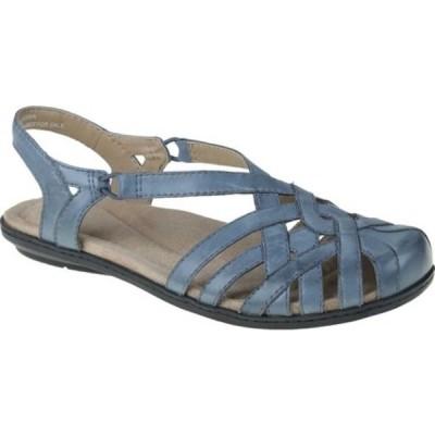 アースオリジン スニーカー シューズ レディース Belle Brielle Closed Toe Slingback (Women's) Moroccan Blue Eco Calf