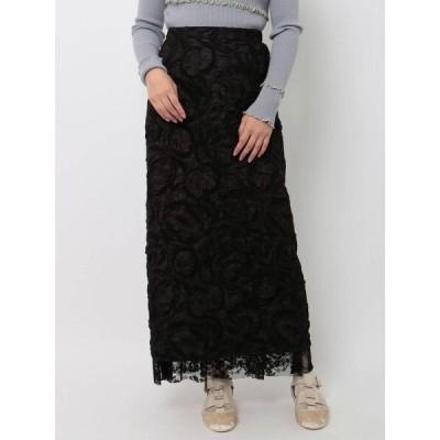 スカート solidジャガードロングスカート