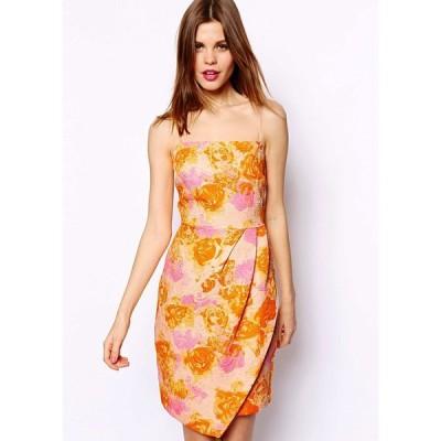 【送料無料】イギリス直輸入 花柄 キャミ ワンピース ドレス パーティー、ステージ衣装などに最適