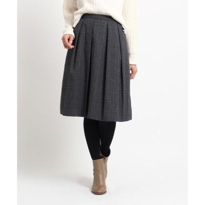 ◆グレンチェックタックフレアスカート