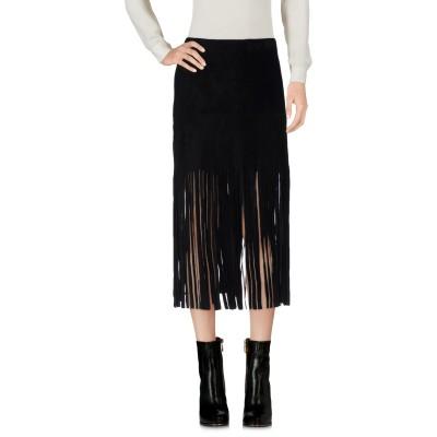 ヴァレンティノ VALENTINO ミニスカート ブラック 40 100% 牛革(カーフ) ミニスカート