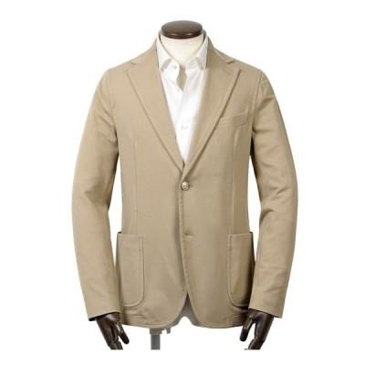 【SALE】チルコロ 1901 CIRCOLO 1901 / 【国内正規品】 / 製品染めコットンストレッチライトジャージー2Bジャケット「CN2531」(CANAPA/ベージュ)