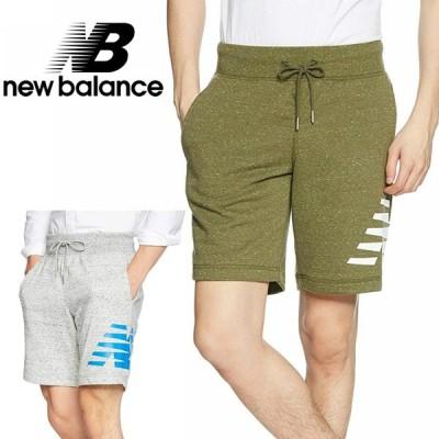 ショートパンツ メンズ ニューバランス New Balance ヘザーショーツ  AMS81536 半ズボン スポーツ