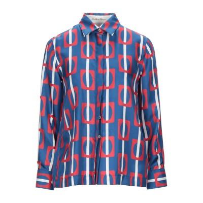 LE SARTE PETTEGOLE シャツ ブルー 40 シルク 100% シャツ