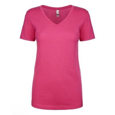 ユニセックス 衣類 トップス The Next Level Ladies Ideal V - RASPBERRY - XS Tシャツ