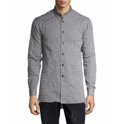 ネイキッド&フェイマス メンズ カジュアル ボタンダウンシャツ Cotton Mandarin Collar Sportshirt