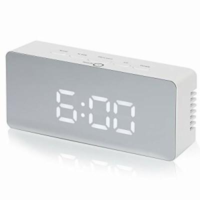 spade(スペード)デジタル時計 目覚まし時計 置き時計 LED ライト アラーム 日本語説明書付き (ホワイト+ブラック)