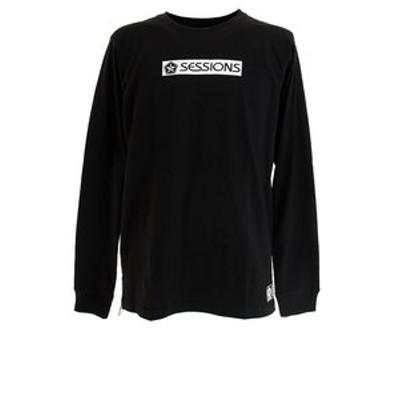 Tシャツ メンズ 長袖 BAR ロゴ 207090 BLK オンライン価格