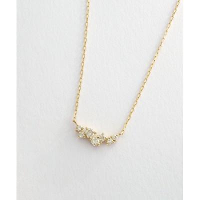L&Co. / K10 ダイヤモンド ランダムセッティングネックレス WOMEN アクセサリー > ネックレス