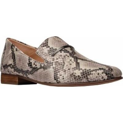 クラークス レディース スリッポン・ローファー シューズ Women's Clarks Pure Viola Trim Loafer Grey Snake Full Grain Leather