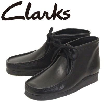 Clarks (クラークス) 26103666 Wallabee ワラビー メンズ レザーブーツ BLACK CL014