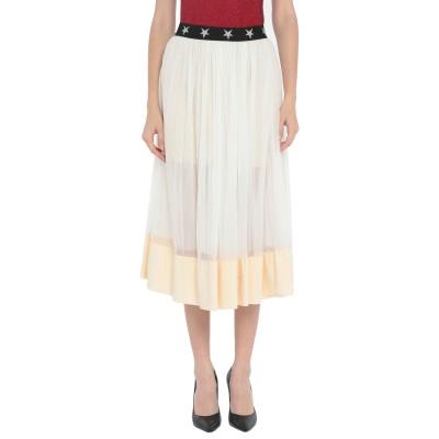 MARYLEY 7分丈スカート ホワイト 42 ポリエステル 100% 7分丈スカート