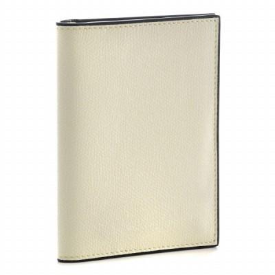 ヴァレクストラ カードケース VALEXTRA パスポートケース メンズ ソフトカーフスキン アイボリー 2020年秋冬 V2L49-028-000W スマートウォレット