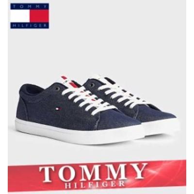 トミーヒルフィガー スニーカー シューズ メンズ ファブリック ロゴ 靴 新作 TOMMY