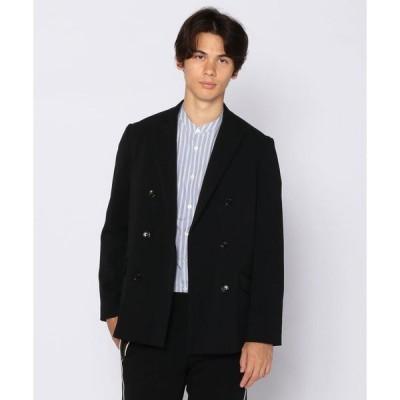 【KNOTT MEN】ナイロントリコット ダブルブレスト テーラードジャケット