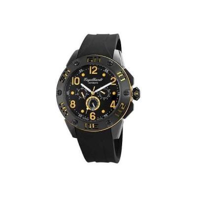 ジュエリー 腕時計 エンゲルハート ENGELHARDT メンズ 腕時計 オートマチック W. ブラック イエロー シリコン Armリスト W. 10.590 712-4