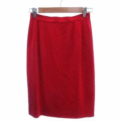 【中古】未使用品 ミスクロエ miss chloe タイトスカート ひざ丈 40 赤 レッド /AU レディース