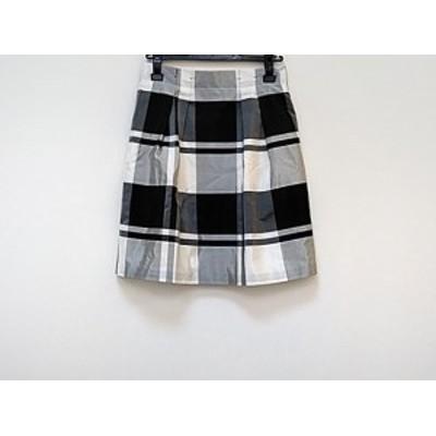 トゥモローランド TOMORROWLAND スカート サイズ36 S レディース 美品 白×ライトグレー×黒 チェック柄【中古】20190731
