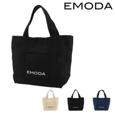【レビューを書いてポイント+5%】エモダ トートバッグ 小さめ レディース EM-9276 | EMODA キャンバス 綿 シンプル カジュアル かわい