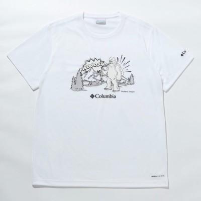 アウトドアシャツ コロンビア 21春夏 ムース アベニュー ショートスリーブ シャツ メンズ L 100(White×Snowman)