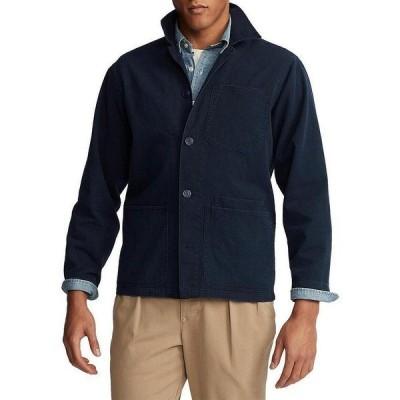 ラルフローレン メンズ シャツ トップス Twill Utility Overshirt Collection Navy