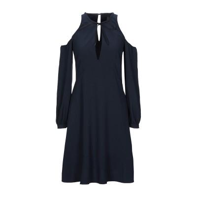 メッサジェリエ MESSAGERIE ミニワンピース&ドレス ダークブルー 42 レーヨン 50% / ポリエステル 50% ミニワンピース&ドレス